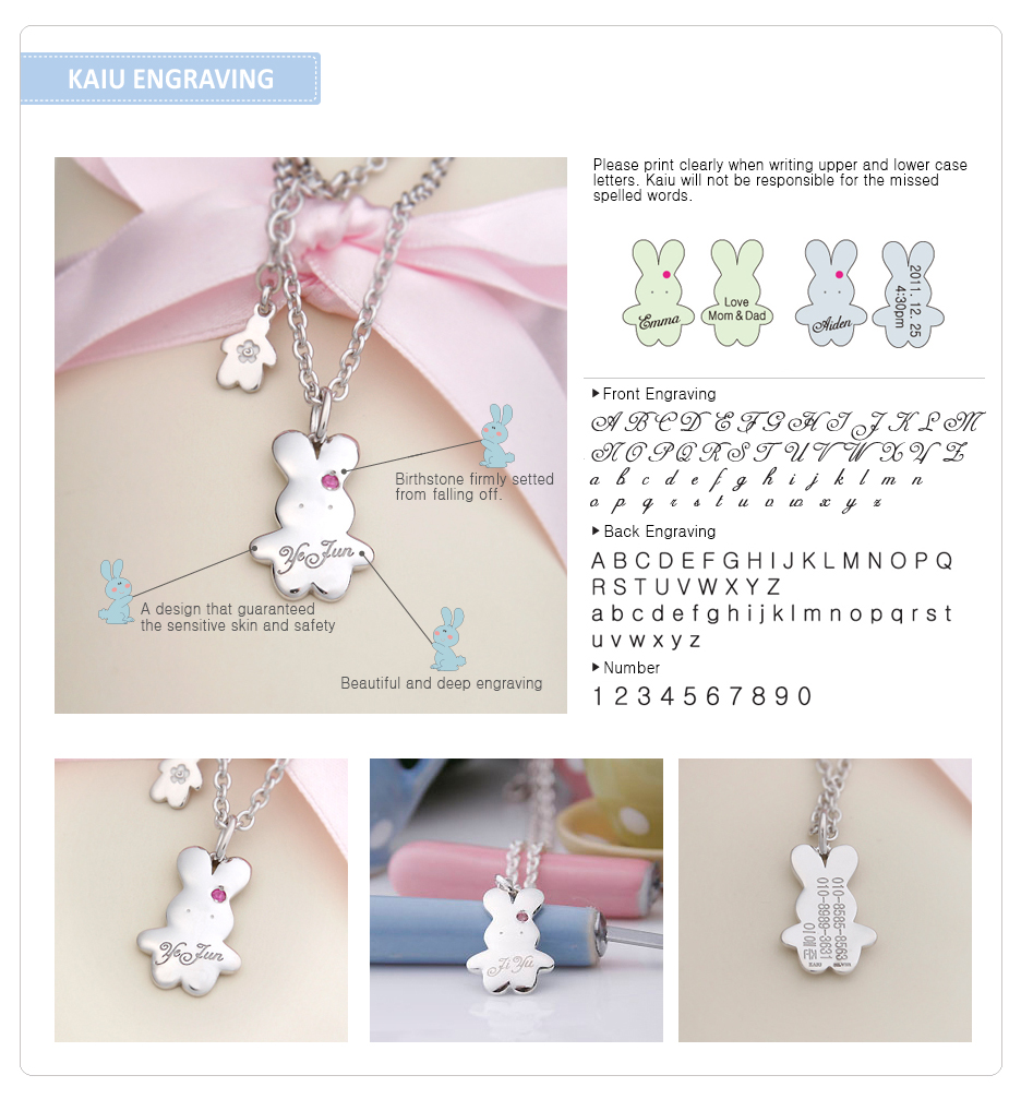 bunny baby necklace